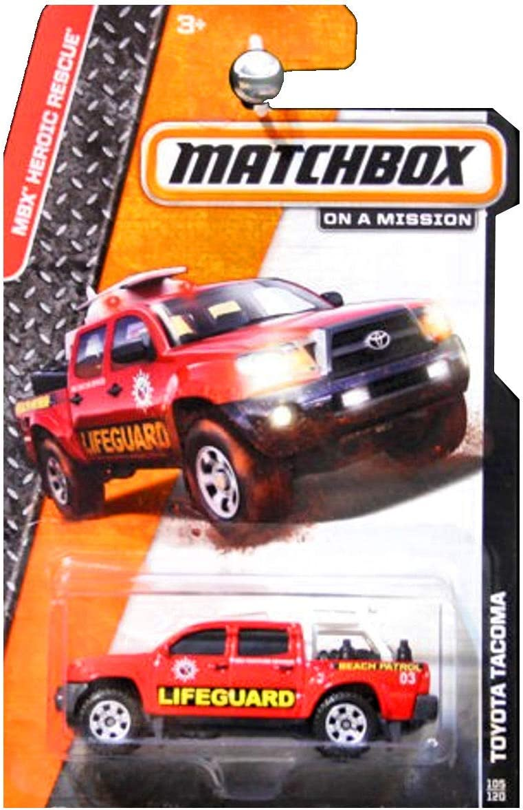 Matchbox 2014 MBX New products world's highest quality popular Heroic Rescue Toyota Special price Tacoma Lifeguard Re Truck