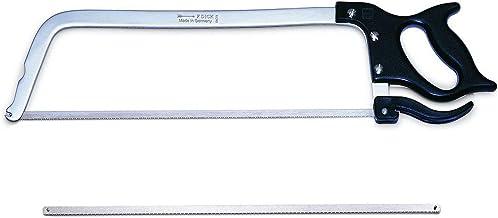 Dick Gran sierra de carnicero inoxidable de 50 cm, incluye 1 hoja de sierra de repuesto para cortar fácilmente huesos y alimentos congelados.