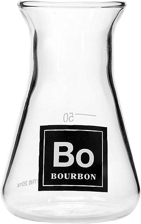 Amazon Com Drink Periodically Laboratory Erlenmeyer Flask Lab Shot Glass Bourbon Kitchen Dining