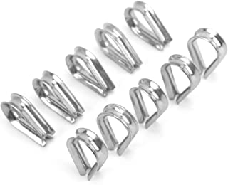 Boothalsaccessoire, 6 MM Roestvrijstalen Bootkabelklemmen Kabelbeschermende Ringen Vingerhoedenklemmen