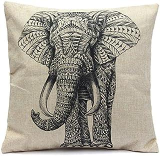 REFURBISHHOUSE Funda De Almohada De Elefante Vintage Funda De CojíN De Cintura De AlgodóN De Lino DecoracióN De Casa