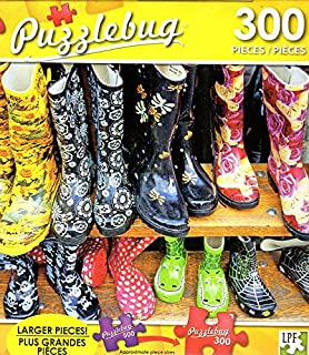 500 Pieces Jigsaw Puzzle Cute and Colorful Rubber Boots