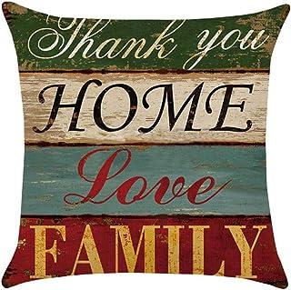 Emorias - Almohada cuadrada de lino de color para el hogar, almohada de calidad, apta para estómago y dormir lateral, hipoalergénica, resistente al polvo y antimanchas (tamaño 45 x 45 cm)
