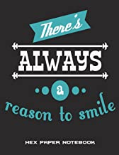 "There's Always a Reason to Smile: Hex Paper Notebook: Happiness Smile Quotes, 1/4 Inch Hexagons Graph Paper Notebooks Large Print 8.5"" X 11"" Game Boards Paper, Math Activities and Coloring Patterns"