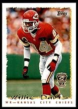 NFL Football 1995 Topps Jaguars & Panthers Inaugural 71 Willie Davis - Chiefs - ARKANSAS