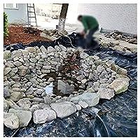 防水シート プールライナー 0.2mm厚 人工池 防水シート池 庭園 スイミングプール 不浸透性フィルム 防水 切断可能 3M×1.5M 5M×1.5M 防雨 粘ることができます 抗紫外線フィルム 屋根 漏れ防止 黒い (Size:5x23ft/1.5x7m,Color:12S)