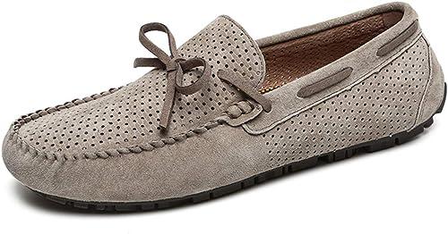 XSY2 Men& 039;s Casual Peas Schuhe, bequemes Fahren Schuhe Loch Faulenzer & Slip-Ons faule Schuhe für Arbeit, Freizeit, Sport, Ausgehen, Zusammenkünfte