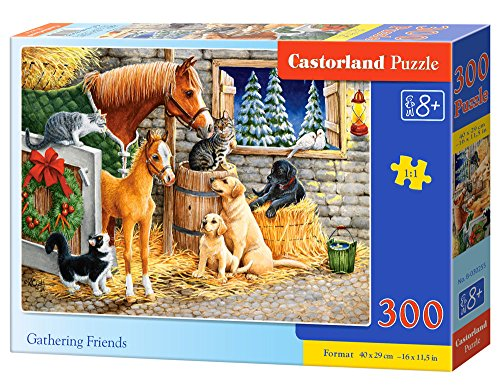 Castorland Gathering friends 300 pcs Puzzle - Rompecabezas (Puzzle rompecabezas, Granja, Niños y adultos, Niño/niña, 8 año(s), 400 mm) , color/modelo surtido