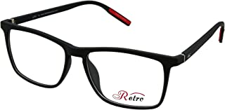 RETRO Unisex-adult Spectacle Frames Rectangular 5505 M.Black/Red