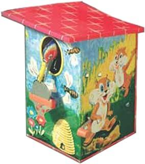 CAPRILO Hucha Infantil Decorativa de Hojalata Hucha PÁJARO Y Abejas. Juegos y Juguetes de Colección. Regalos Originales para Reyes, Navidad y Cumpleaños.