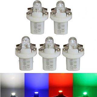LED Mafia 5X B85d BAX 10D Halogen Round Heat Tachobeleuchtung Set   weiß blau rot (blau)