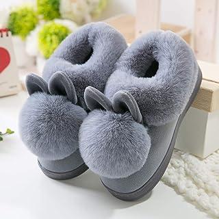 Lindo Gato Guestsfluffy Zapatillas Invierno Abrigo Zapatos De Piel Mujer Hombres Amantes De La Suela Suave Interior Dormit...