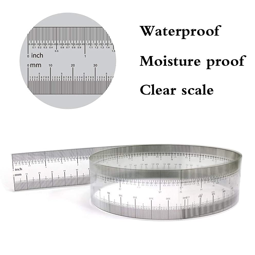 ??Ywoow?? Film Ruler, Flexiable Rulers Soft Plastic 25 Inches Ruler Measuring Tool Household