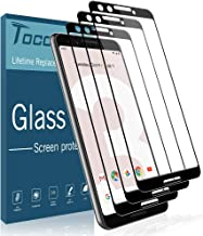 TOCOL [3 Pack] Screen Protector for Google Pixel 3, [Full Coverage] [Case Friendly] [9H Hardness] Anti-Scratch Tempered Glass with Lifetime Replacement Warranty