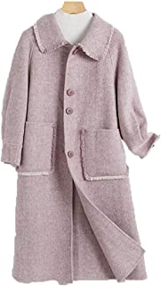 Womens Coat Woolen coat female autumn and winter double-sided woolen coat high-end straight women's Warm coat thick double-faced jacket