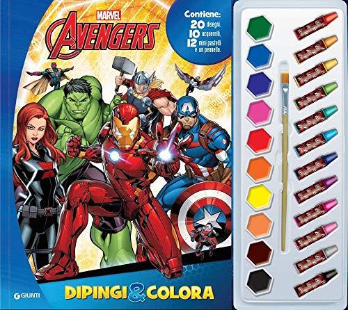Avengers. Dipingi & colora. Con 12 pastelli a cera e 10 acquerelli