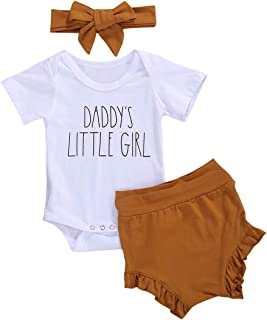 Newborn Baby Girl Clothes Set Rainbow Romper Jumpsuit Bodysuit Shorts Pants Headband 3Pcs Summer Outfit Set