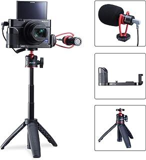 Opteka VLB-1 C Shaped Adjustable DSLR Digital Camera Flash Bracket Accessory Mount Holder Attachment for Sony Alpha 7 7R 7S A3000 A3500 A5000 A6000 A100 A200 A230 A290 A300 A330 A350 A380 A390 A450 A500 A550 A560 A580 A700 A850 A900 A33 A35 A37 A55 A57 A