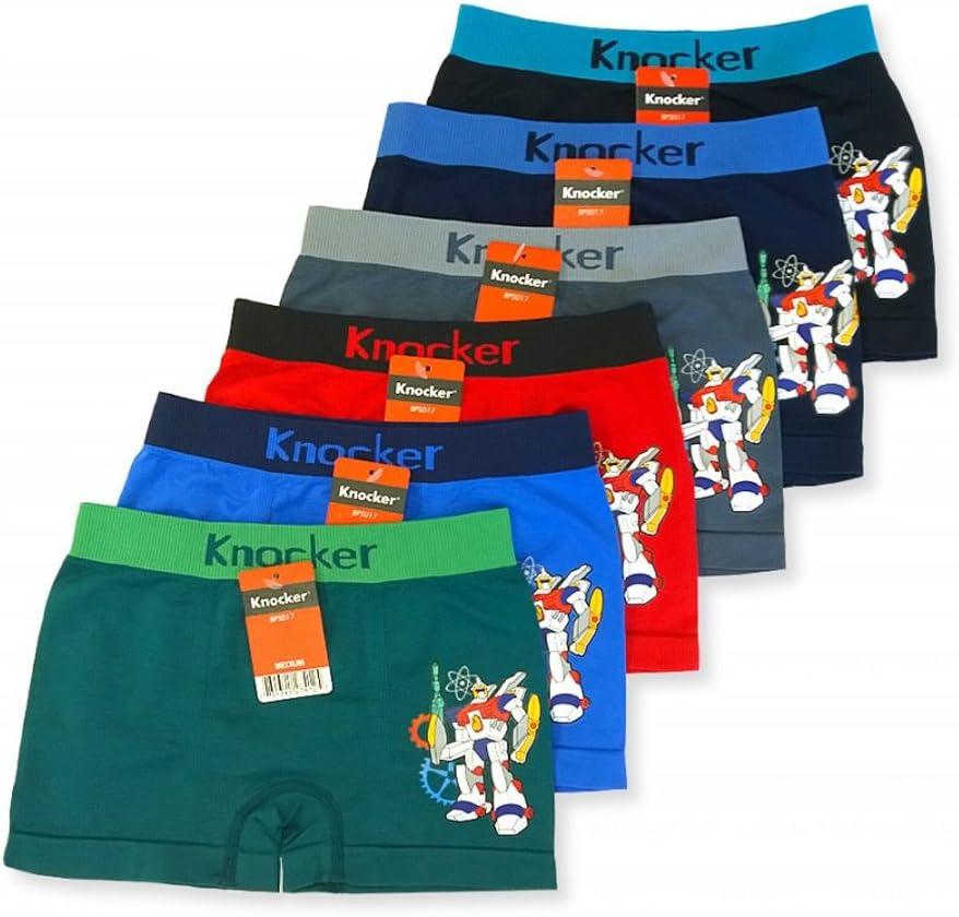 3 Knocker Boys Boxer Shorts Seamless Transformer Spandex Kids Soft Underwear S !
