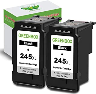 GREENBOX Remanufactured Ink Cartridge Replacement for Canon PG-245 PG-245XL PG 245 245XL 245 XL PG-243 to Used in Canon Pixma MX492 TS3120 MG2522 MX490 MG2920 MG2922 MG2520 MG3020 TS302 (2 Black)