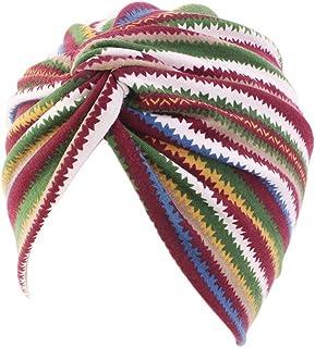 Stirnband Damen Chemotherapie Deckel Day.LIN Damen Baumwolle Chemo Schal Hut Turban Bandana Kopf Schals elastische Haarband Kopfband Weich Turban Stirnband für Alltag Yoga Sport Fitness Khaki, 1