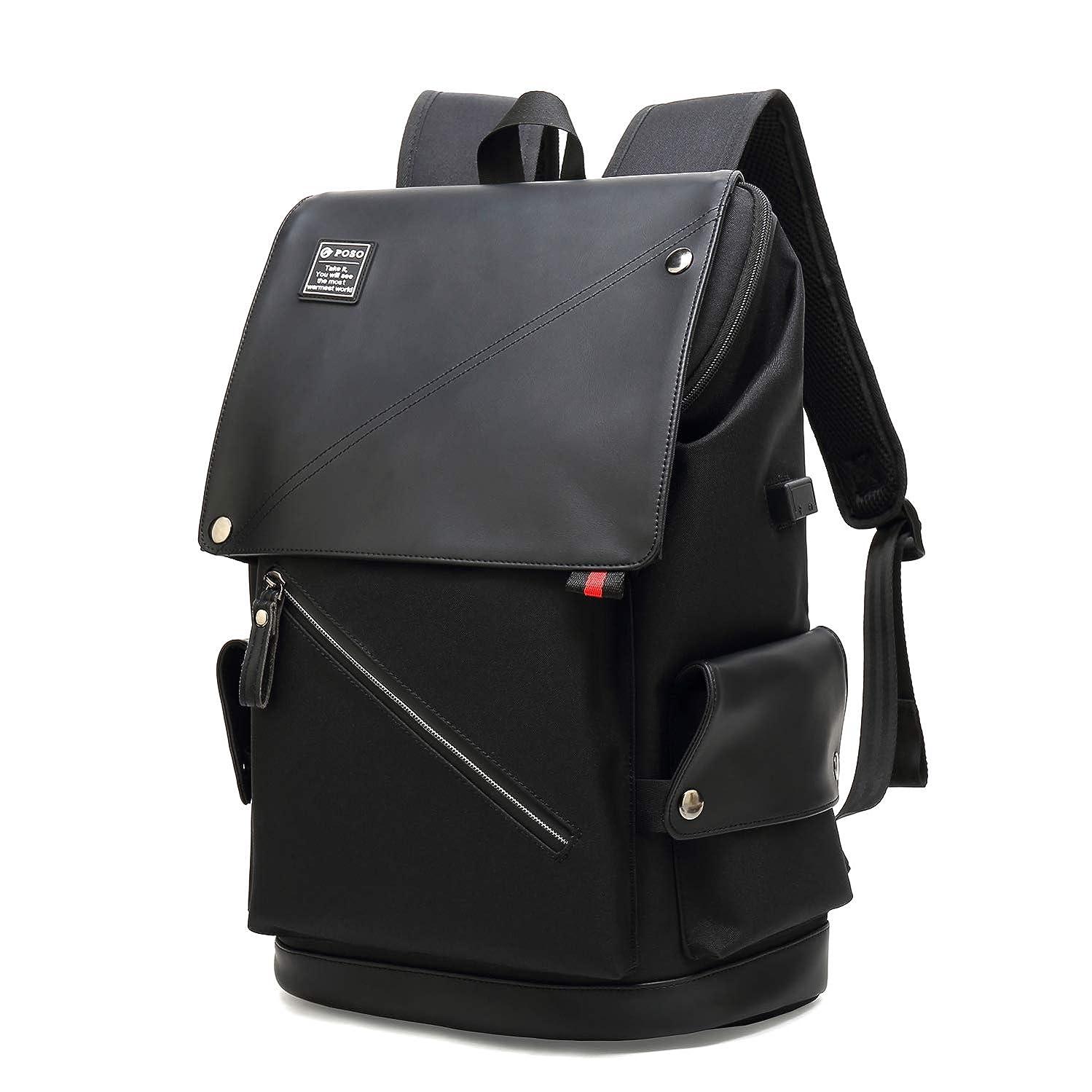 薬剤師固体終了しましたバックパック リュックサック ビジネス トラベルバッグ USBポート付き 大容量18L 撥水加工 防水 耐衝撃 負担軽減 メンズ レディース兼用 黒