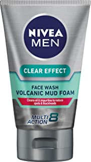 NIVEA MEN Clear Effect Volcanic Mud Foam Face Wash, 100ml
