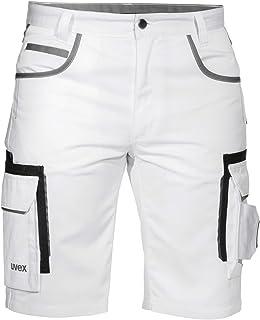 Uvex Tune-Up Pantalons Courtes de Travail pour Hommes - Shorts Cargo Bermuda - Multiples Poches,Blanc,54