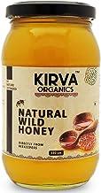 Kirva Organics Premium Natural Wild Honey   Immunity Booster   Weight Loss Remedy - 530 gm (Eco Friendly Glass jar))