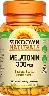 (2 Pack) Sundown Naturals Melatonin, 300 mcg, Tablets, 120 tablets by Sundown