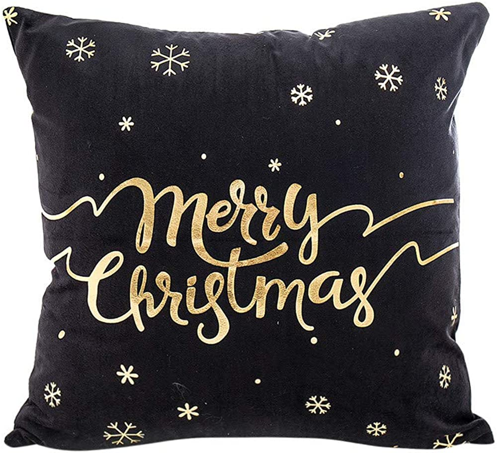 Arystk Popularity Merry Christmas Pillow Case Printing Gold Waist Foil Special price for a limited time Sofa
