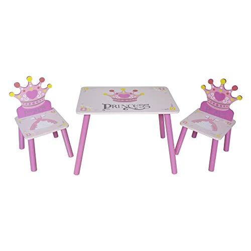 1d08a1d9fa1d Kiddi Style Childrens Princess Themed Wooden Table and Chair Set , Pink:  Amazon.co.uk: Baby