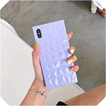 U-see Glossy Soft TPU Silicone Cases for iPhone Xs/Xs Max 6 6S 7 8 Plus X Square 3D Rhombus Texture Cover for iPhone Xr 7 Plus Case Case,for iPhone X,WW