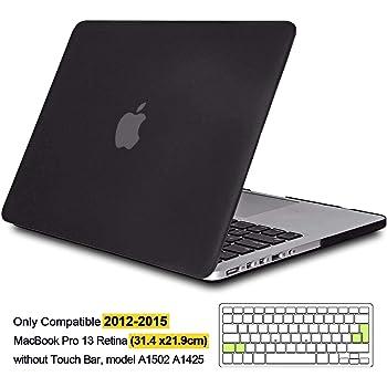 iNeseon Custodia per MacBook PRO 13 2020 Nero A2251 A2289 Plastica Case Rigida Protettiva e Cover Tastieracon Touch Bar