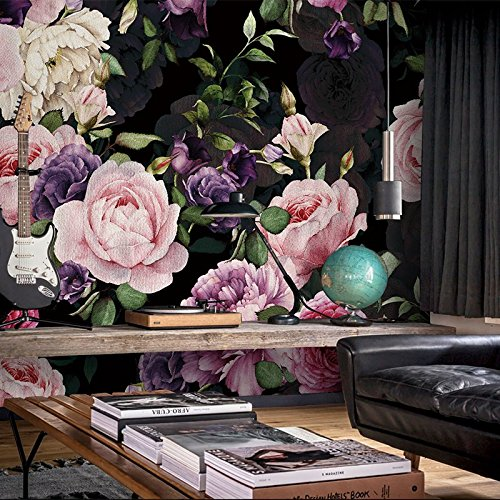 3D Blumen Gemälde Tapete Schlafzimmer Wohnzimmer TV Hintergrund Wand Papier Wand nahtlose Pfingstrose Blume Wandbild Abdeckung 10.76 Quadratmeter