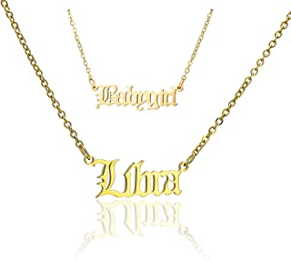 LLYANZ Stainless Steel 12 Zodiac Signs and Babygirl Combination of The Necklace 2pcs