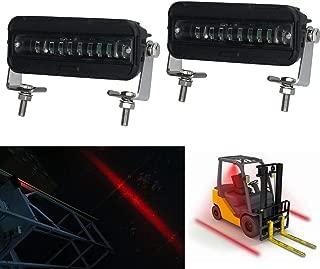MOVOTOR Forklift Safety Light Cree LED Red Zone Warehouse Pedestrian Warning Light 12v-60v DC Truck Security Indicator Spotlight