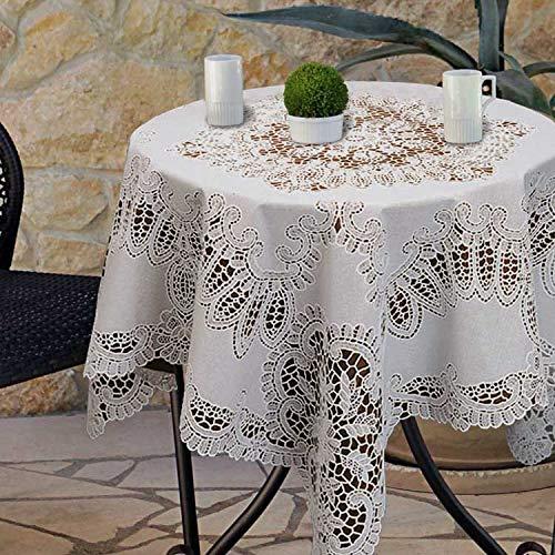 Tafelkleden Amira Vinyl 90x90cm ivoor
