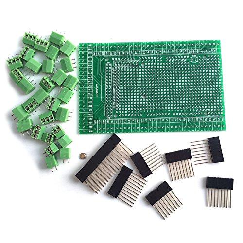 WINGONEER® Prototype Screw/Terminal Block Shield Board Kit For Arduino MEGA 2560 R3 DIY