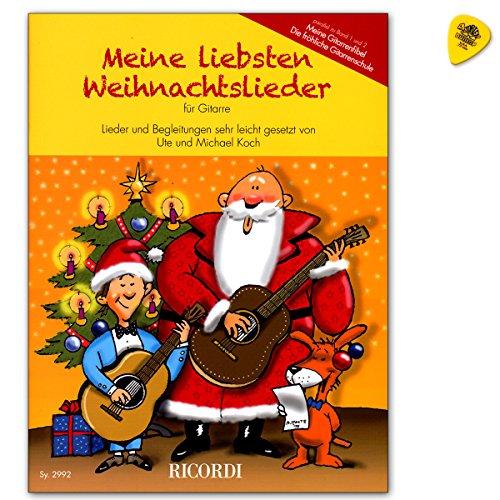 Mijn geliefde kerstliedjes voor gitaar - een verzameling van de populairste liedjes in de kersttijd (parallel aan de gitaarschool Mijn gitaarfibel) - noten met Dunlop Plek
