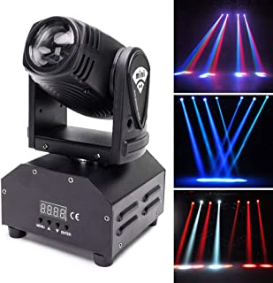 U`King Moving Head Stage Light RGBW (4 in 1) DMX512 Rotating Stage Effect Lamp for DJ Disco Club Party Dance Wedding Bar Theater Pub Christmas Lights