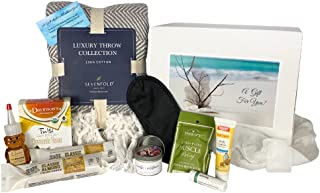 Luxury Get Well Gift Box Set | Self Care Gift Basket | Thinking of You | 10 Piece Luxury Care Package