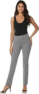 Rekucci Women's Secret Figure Pull-On Knit Straight Pant...