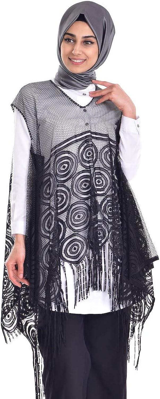 Turkish V Collar Sleeveless Poncho All Season Muslim Women