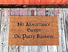 No Admittance Except On Party Business Lord of The Rings Door Mat Housewarming Gift 23.6 * 15.7 inch