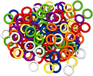 Hard Stitch Ring Markers for Knitting/Crochet/etc(from Ø5mm to Ø11mm) 7 Colors 140pcs or 70pcs (Hard O-Rings Ø5mm, 7 Colors 140pcs)