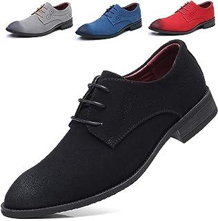 AARDIMI - Zapatos Planos con Cordones de Caucho Hombre, Color Negro, Talla 48 EU
