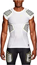 Nike Mens Pro Combat Hyperstrong 3.0 Compression 4-pad Football Shirt-White-Large