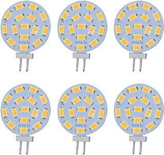 Jenyolon Bombillas LED G4 (2,2 W CA/CC, 12 V, 3000 K, 300 lm, repuesto para bombillas halógenas de 20 W, casquillo G4, luz blanca cálida, 6 unidades)