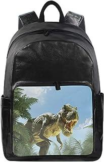 Lustiger Rucksack mit süßem Tier-Dinosaurier-Blättern, Schultertasche, Wandern, Camping, Tagesrucksack, Schule, Reisen, Co...